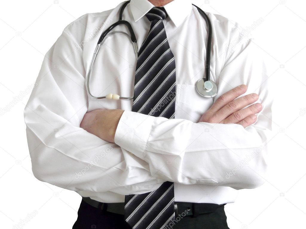 Man doctor with stethoscope — Stock Photo #1028547