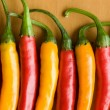 Red and yellow chili peppers — Stock Photo #1075772
