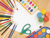 Accessories for painting — Stock Photo