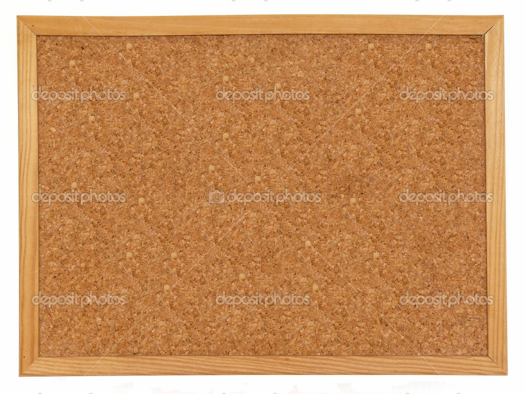 Empty cork board isolated over white background — Stock Photo #1075331