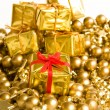 Golden gifts — Stock Photo