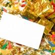 Blank gift card — Stock Photo