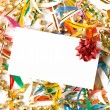 Stock Photo: Blank gift card