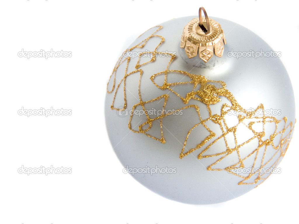 Christmas ball, isolated over white. — Stock Photo #1081117