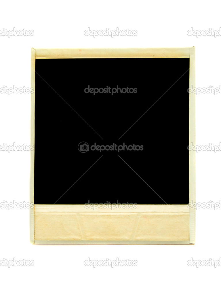 One old photo card, isolated over white background. — Stock Photo #1081333