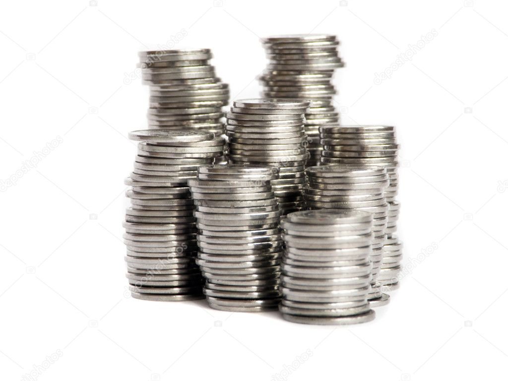 Coins Stacks Stock Photo 169 Agphoto 1081492