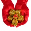 Royalty-Free Stock Photo: Hands with gifts