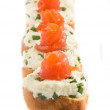 Sandwiches with smoked trout — Stock Photo #1720220