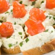 Sandwiches with smoked trout — Stock Photo