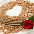 Heart-shaped cake - Stockfoto