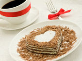 Heart-shaped cake — Stok fotoğraf