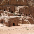 Stock Photo: Ruins of Necropolis in Petra