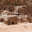 Foto de Stock  : Ruins of Necropolis in Petra