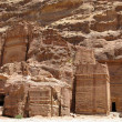 Foto Stock: Ancient ruins in Petra
