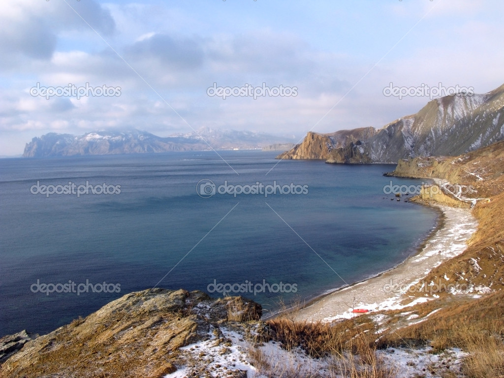 Winter gulf, Black sea, Crimea, Ukraine — Stock Photo #1116607