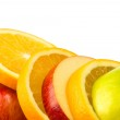 Mixed apple and orange — Stock Photo
