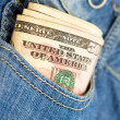Money in the pocket — Stock Photo