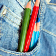 Royalty-Free Stock Photo: Pencils in the pocket