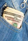 Money in the pocket — Stock Photo