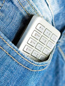Phone in the pocket — Stock Photo