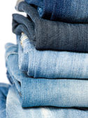 Blue denim jeans. — Stock Photo