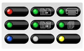 Vector buttons for web design. — Stock Vector