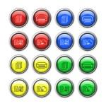 Vector knappar för webbdesign — Stockvektor