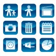 Royalty-Free Stock Imagen vectorial: Set of web icons