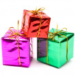 Colour gift boxes — Stock Photo