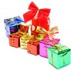 Colour gift boxes — Stock Photo
