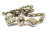 Silver earrings — Stock Photo