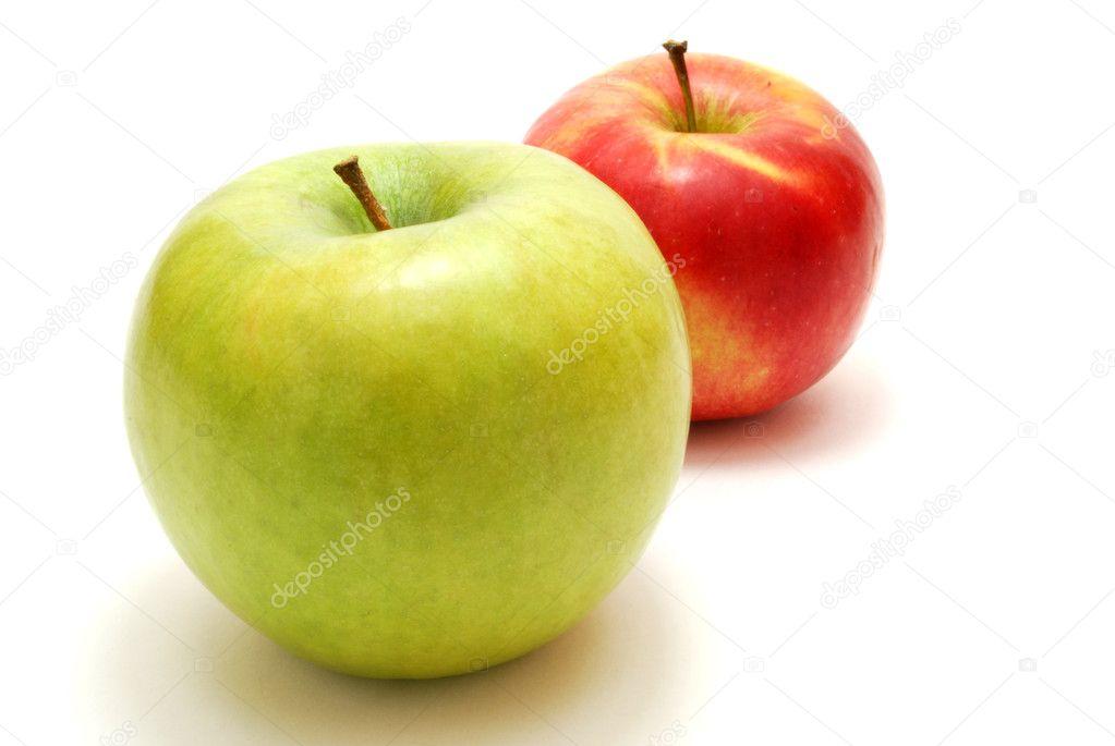 两个苹果 - 图库图片