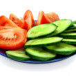 Tomato and Cucumber Slices — Stock Photo