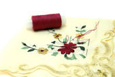 Handkerchief Sewing — Stock Photo