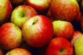 Pilha de maçãs — Fotografia Stock