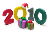 Text 2010 with Gifts — Stock Photo