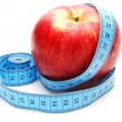 Apple with Measure Tape — Stock Photo #1310162