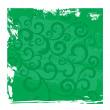 Royalty-Free Stock Imagen vectorial: Green grunge vector floral background
