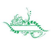 Green floral vector frame — Stock Vector