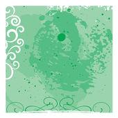绿色 grunge 花卉矢量背景 — 图库矢量图片