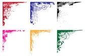 Grunge vector corners set — Stock Vector