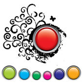 Glossy vector buttons set — Stock Vector