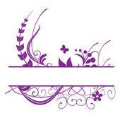 Purple floral vector frame — ストックベクタ