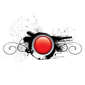 Red glossy vector button — Stock Vector