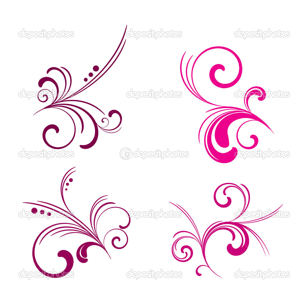 Floral vector pattern set 02 — Stock Vector #1247201