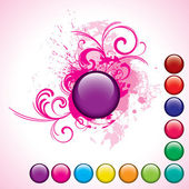 Glossy vector buttons set — Stock Photo