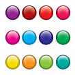 Simple glossy vector buttons set — Stock Vector