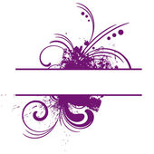 Purple vector frame — Stock Vector