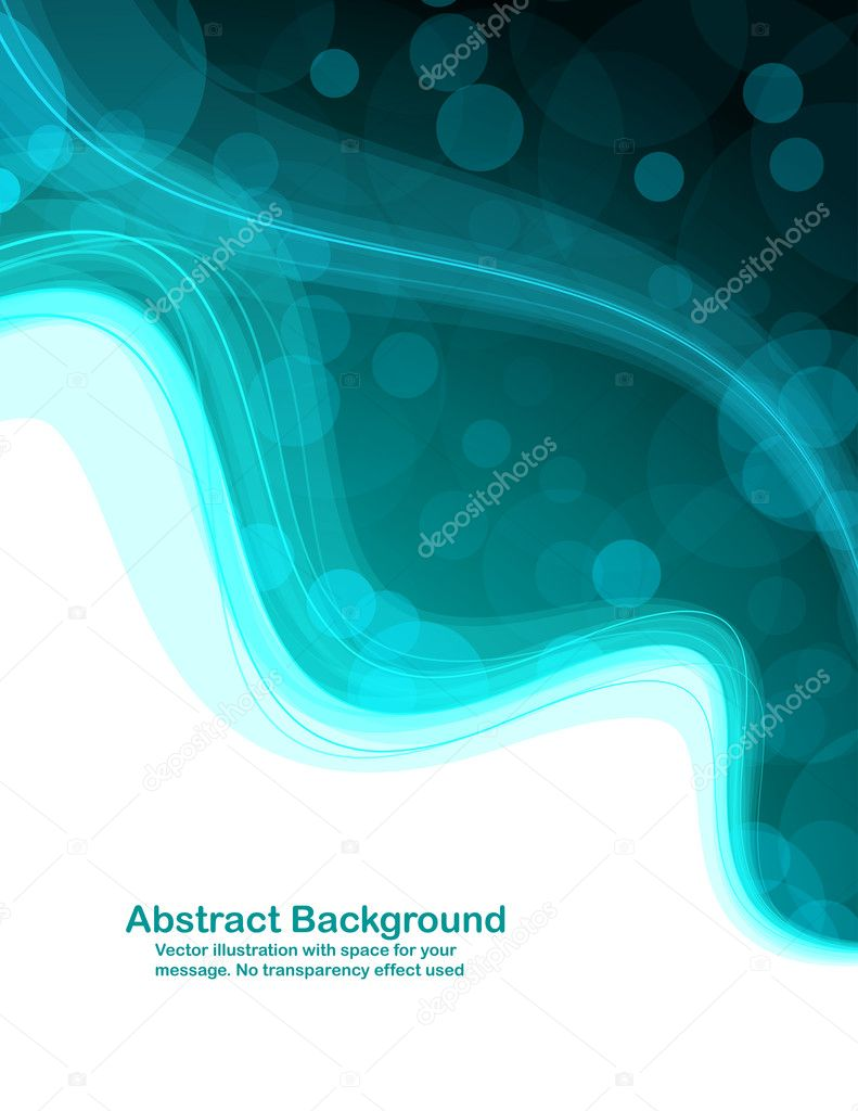 Abstract colorful background with transparent circles and waves. Vector illustration in RGB colors. — Stock Vector #1495021