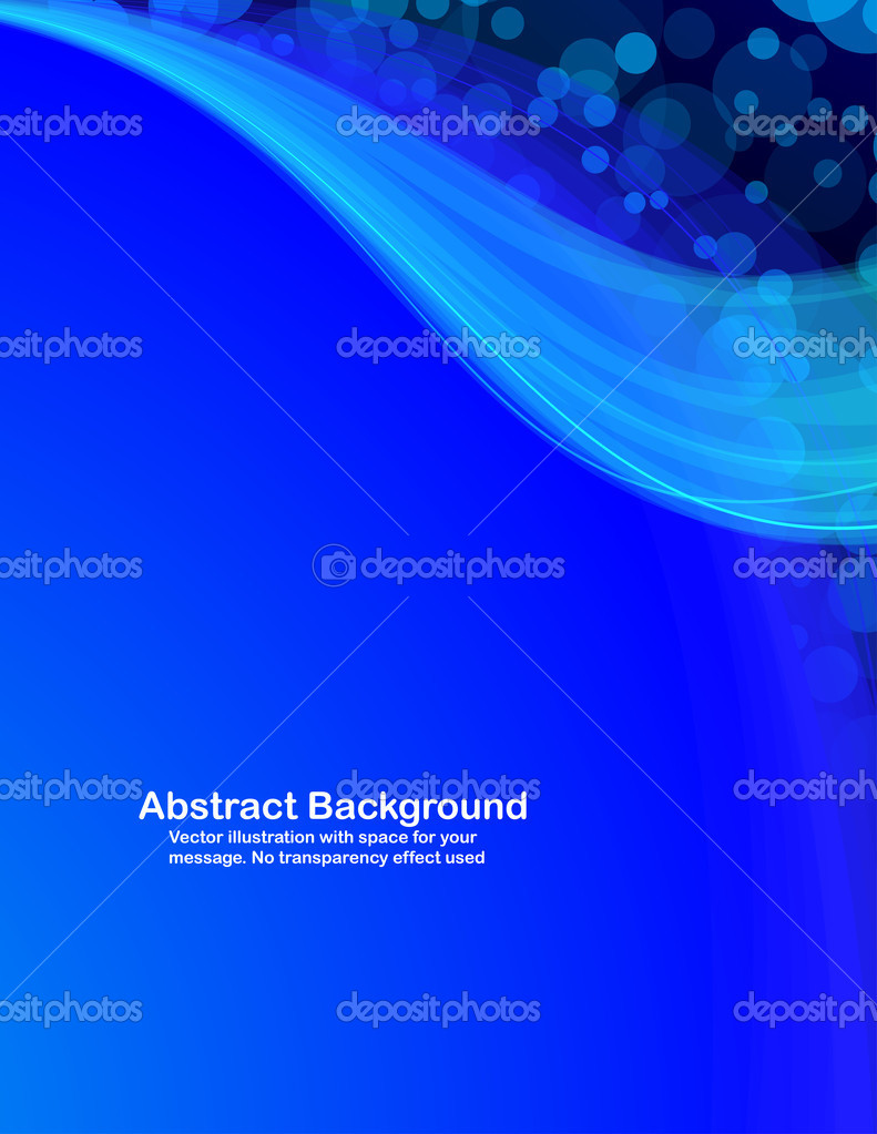 Abstract  blue  transparent waves and random circles. Vector illustration. — Stock Vector #1496176
